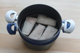 2. Cuoci il merluzzo a vapore