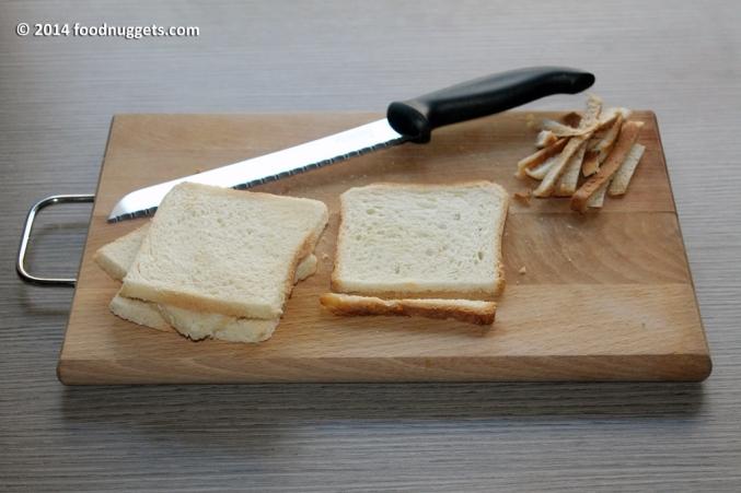 1. Priva le fette di pancarré della crosta