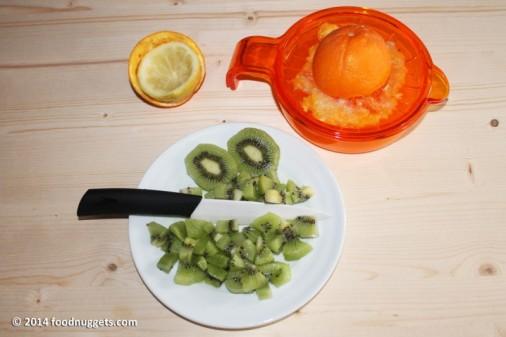 1. Spremi gli agrumi e affetta i kiwi