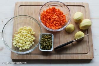 3. Taglia le verdure a dadini molto piccoli
