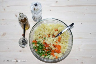 5. Condisci le verdure quando sono tiepide