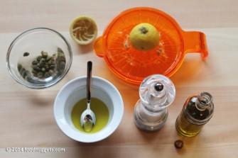 2. Dissala i capperi e prepara l'emulsione
