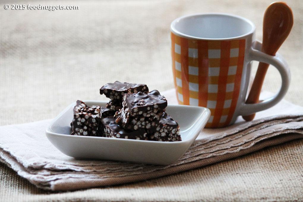 Cioccolatini di quinoa soffiata