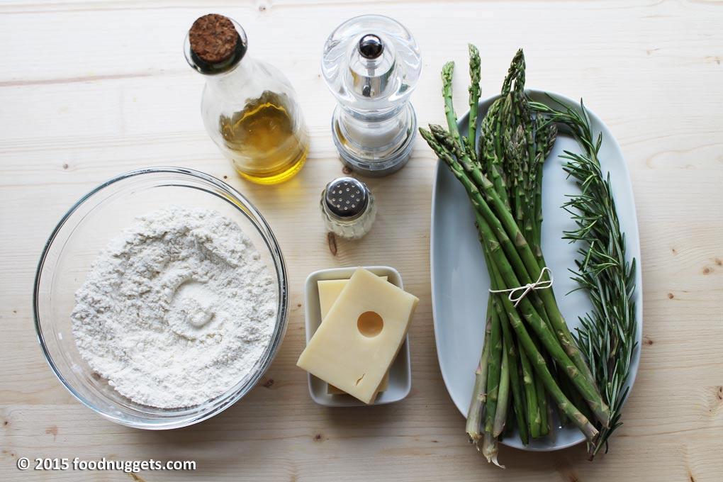 Ingredienti Croccantina al rosmarino con asparagi