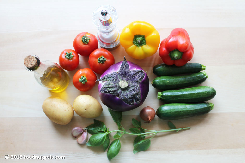 Ingredienti ratatouille