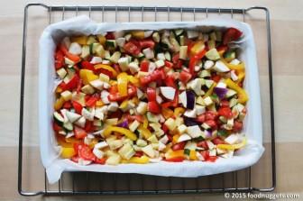 Pirofila contenente le verdure