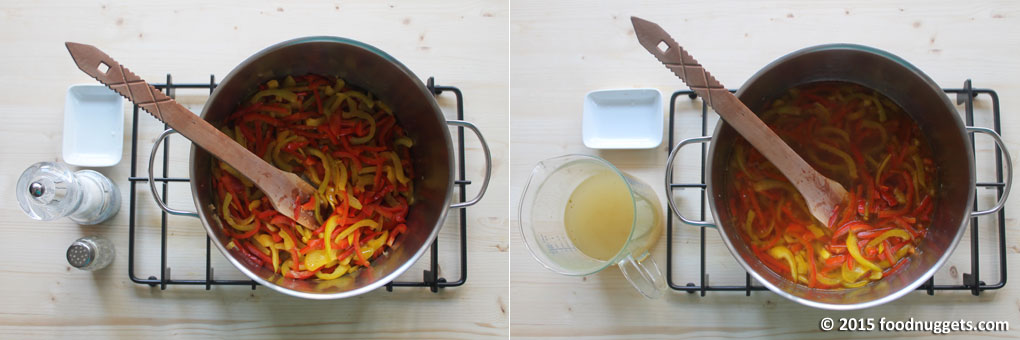 Peperoni in cottura