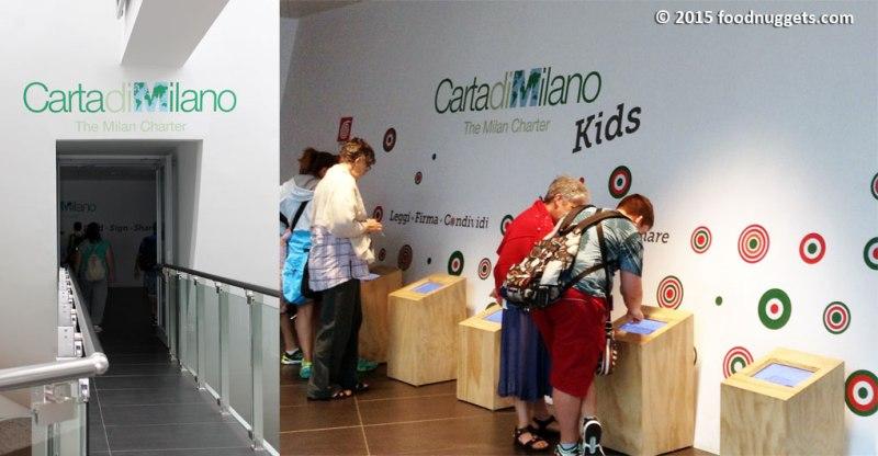 I visitatori firmano la Carta di Milano