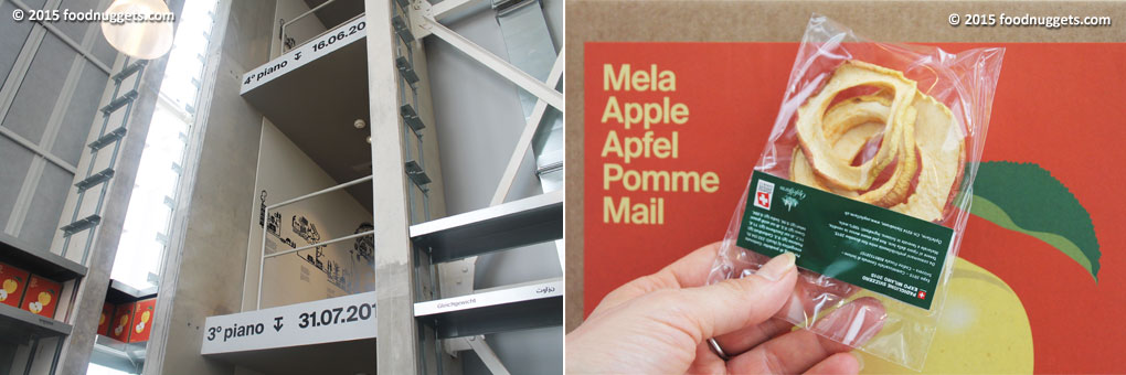 Torre delle mele nel padiglione svizzero in Expo