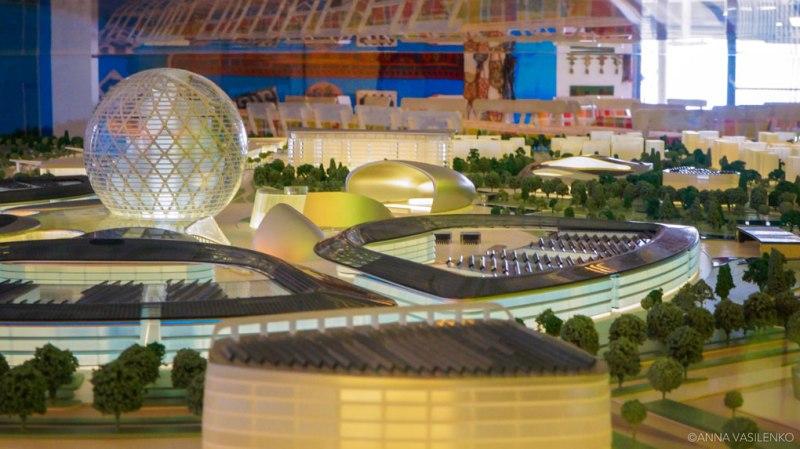 Plastico di Astana 2017 nel Padiglione del Kazakhstan