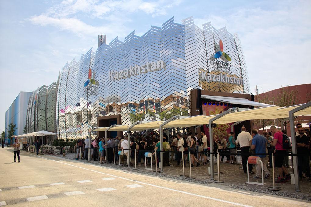 Esreno del padiglione del Kazakhstan in Expo
