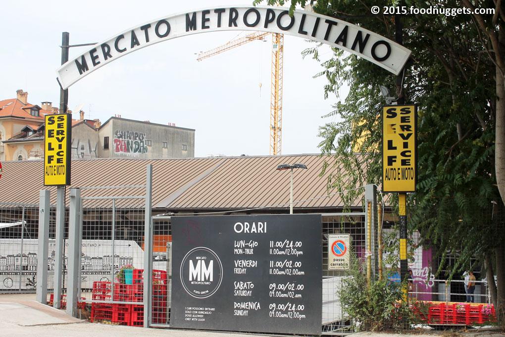 Entrata del mercato Metropolitano a Milano