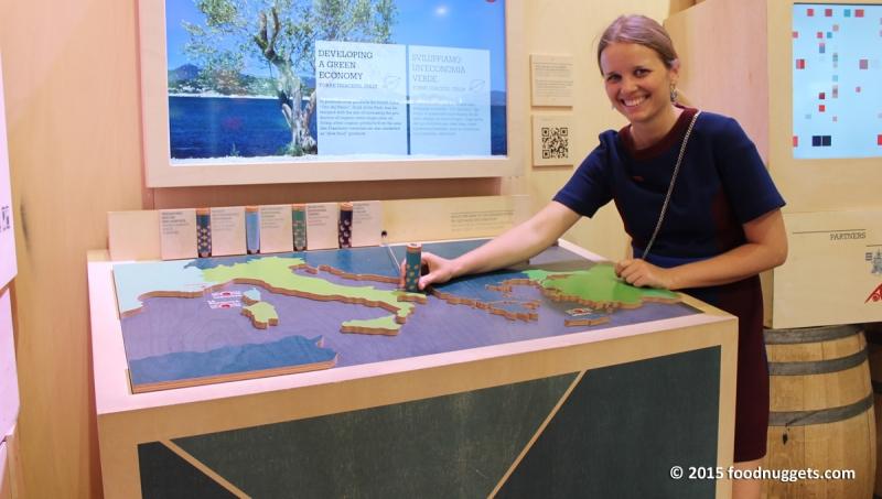 La stazione tematica sulle aree marine protette nel padiglione del Principato di Monaco in Expo