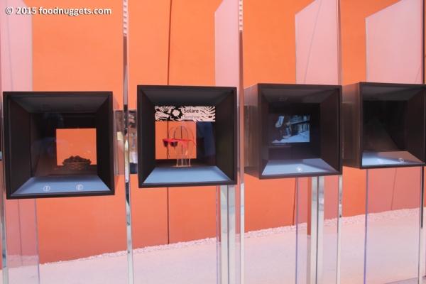 Dettaglio cubi nel padiglione degli Emirati in Expo
