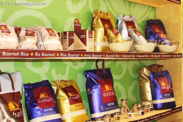 Riso in vendita al Padiglione Basmati
