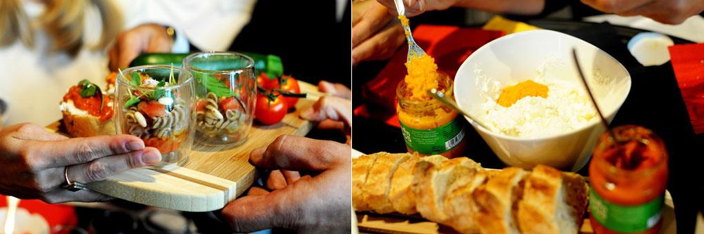Crema spalmabile e pasta a base di insetti nel padiglione del Belgio in Expo