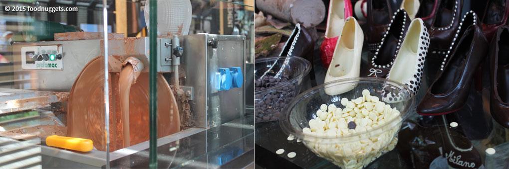 Laboratorio di cioccolato nel padiglione del Belgio in Expo