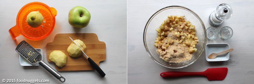 Preparazione del ripieno della Mini Apple Pie