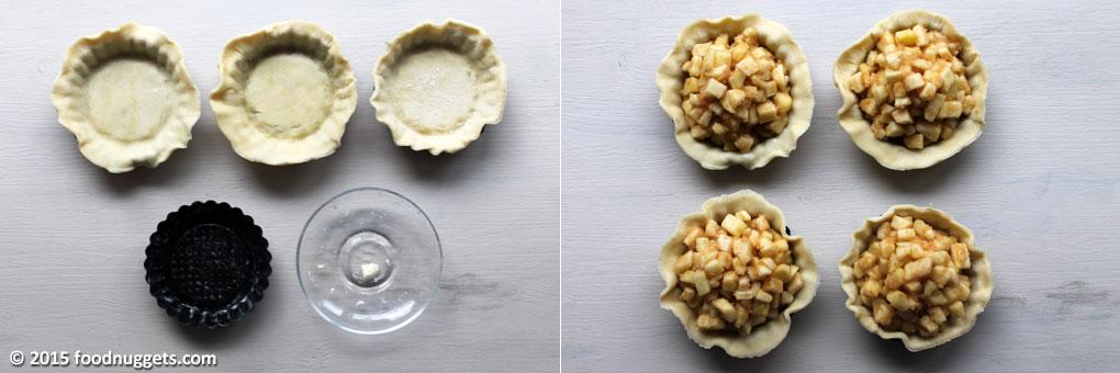 Farcitura delle Mini Apple Pie