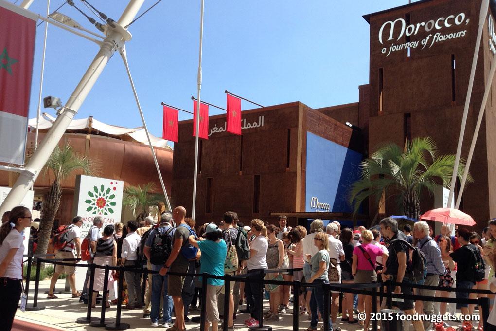 La facciata del padiglione del Marocco in Expo 2015