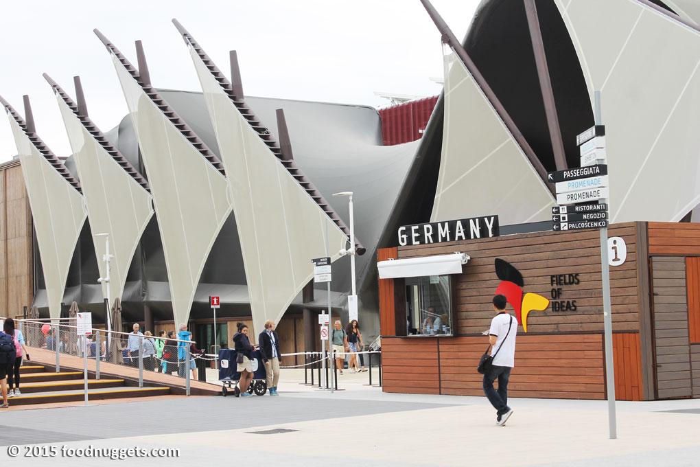 Entrata del Padiglione della Germania in Expo