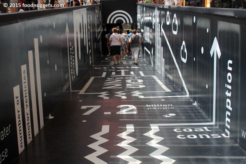 La rampa del futuro nel padiglione del Belgio in Expo