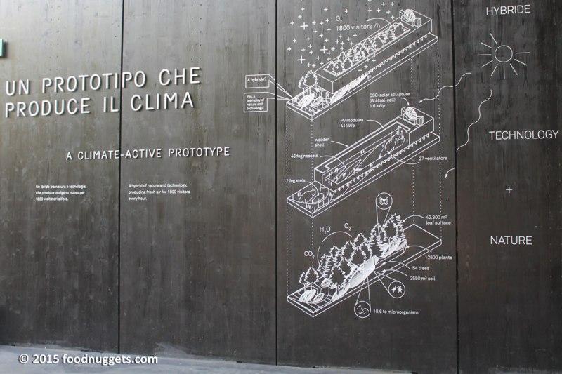 """Illustrazione """"Un prototipo che produce clima"""" nel padiglione austriaco di Expo"""