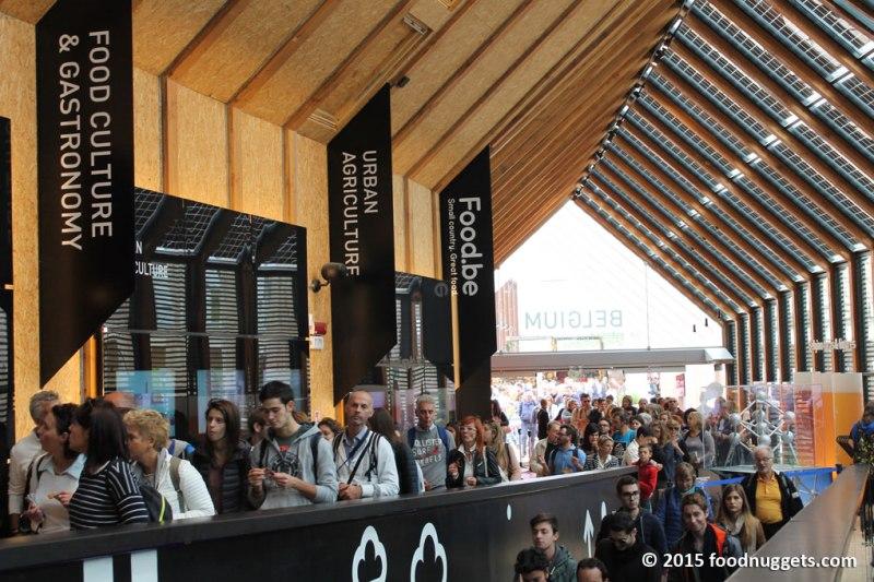 Entrata del padiglione del Belgio in Expo
