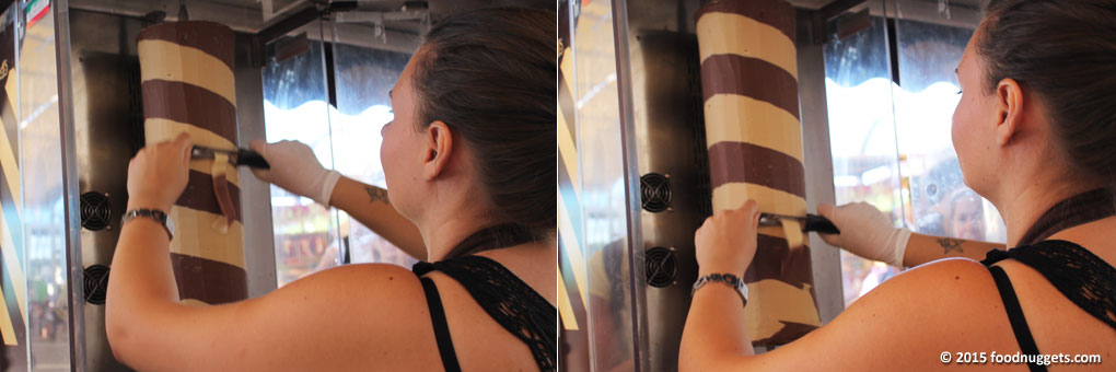 Choco kebab in preparazione a Expo