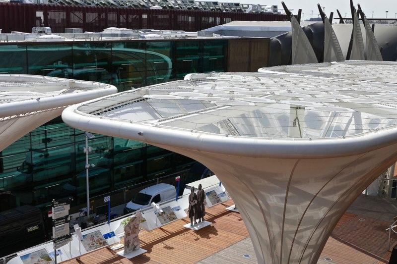 Solar tree del padiglione tedesco in Expo