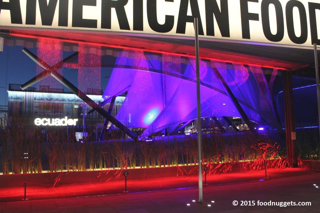Padiglioni Usa, Kuwait ed Ecuador in Expo