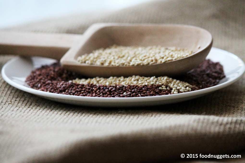 Quinoa bianca e rossa