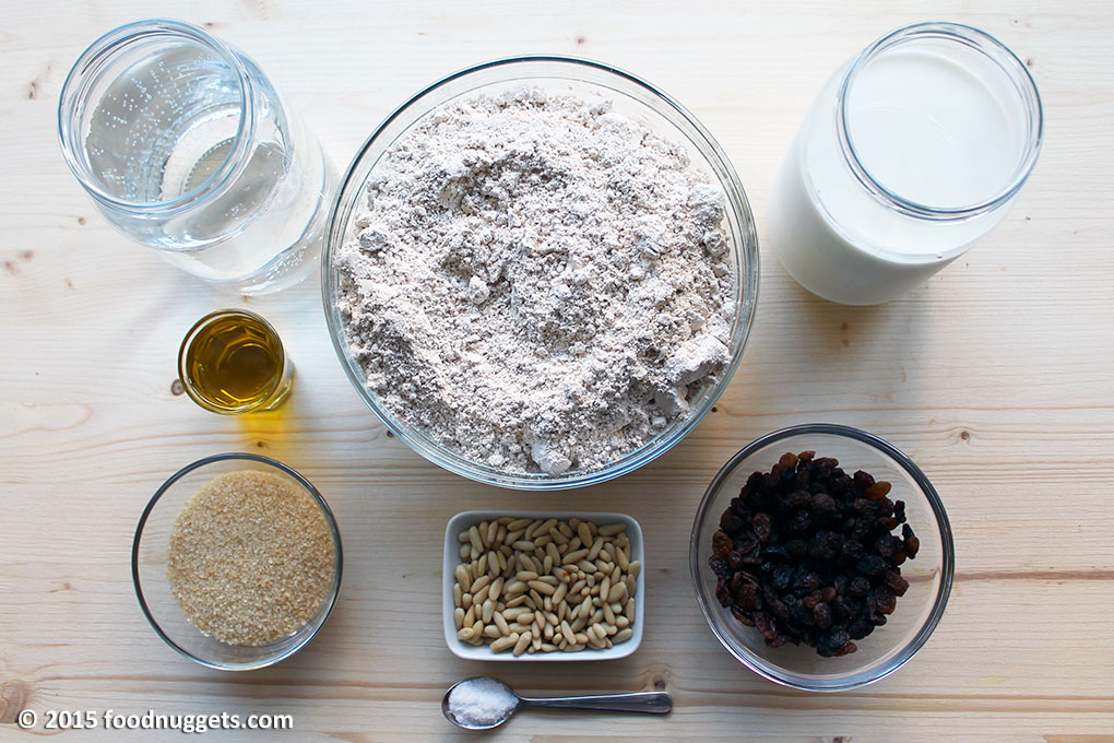 Ingredienti per il catsagnaccio di Silva Avanzi Rigobello