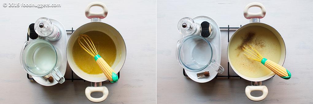 Preparazione della besciamella all'acqua