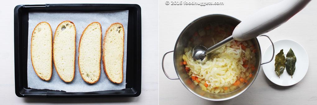 Pane casereccio da infornare, verdure da passare al mixer