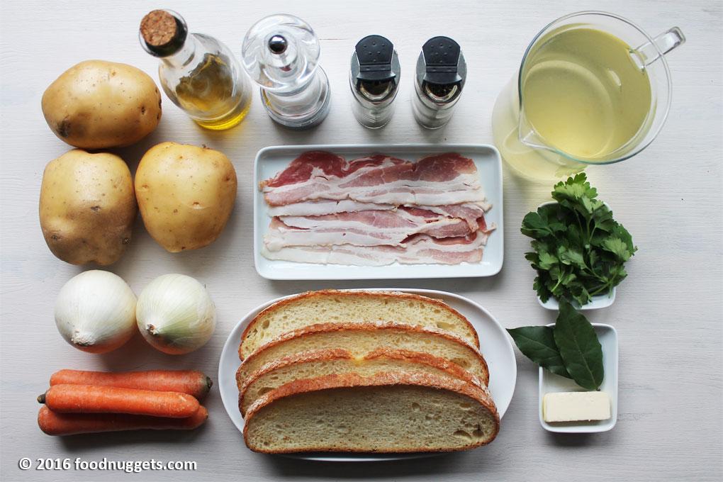Ingredienti per la Kartoffelsuppe
