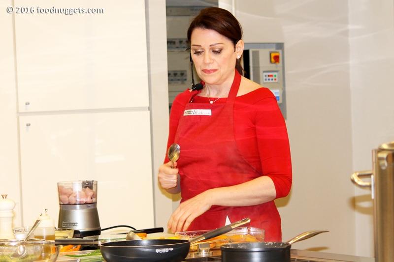 Sonia Peronaci durante lo showcooking Unaitalia