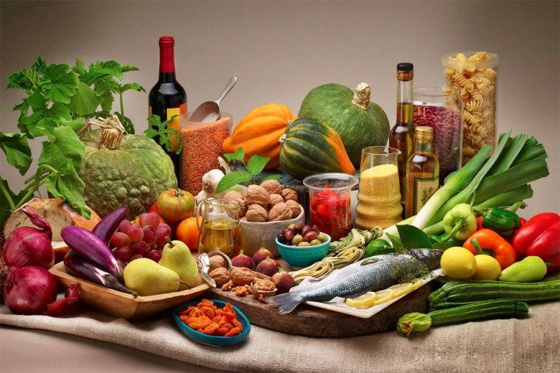 Gli alimenti della dieta mediterranea